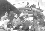 Air and ground crew members of an Il-2 Sturmovik aircraft, date unknown