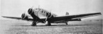 Ju 52/3m aircraft resting at an airfield, date unknown