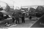 Ju 87 Stuka aircraft being serviced, Germany, winter of 1939-1940, photo 2 of 2