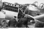 German crew maintaining a Ju 87 dive bomber, Germany, winter of 1939-1940