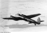 German Ju 88 bomber of KG 1 in flight over France, Nov-Dec 1940