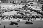 Captured German Ju 88 aircraft on display in Sverdlov Square, Moscow, Russia, 15 Aug 1941