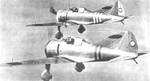 Two Ki-27 aircraft in flight, date unknown