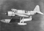 Float variant of the Vought OS2U Kingfisher of the RAAF 107 Squadron in flight, 1942-1945