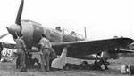 A La-5FN aircraft being serviced on an airfield, Ukraine, 11 Sep 1944