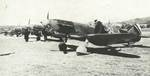 LaGG-3 fighters parked at an airfield, date unknown