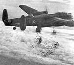 101 Squadron Lancaster dropped its bomb load over Duisburg, Germany during Operation Hurricane, 14 Oct 1944
