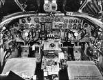 Cockpit of a B-24 Liberator bomber, date unknown