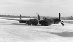 P-38G Lightning aircraft with retractable ski landing gear, Ladd Field, Fairbanks, US Territory of Alaska, winter of 1943-1944, photo 2 of 2