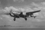 P-38L Lightning aircraft of the 27th FS, US 1st FG landing at Foggia, Italy, 1945