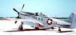 P-51D Mustang fighter of the West Virginia, United States Air National Guard, post-Jan 1947