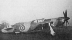 British Mustang X fighter AM203 at rest, 1942
