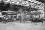 N1K1 floatplanes in a hangar, Japan, 1946