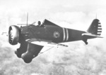 P-26 Peashooter aircraft in flight, 1930s