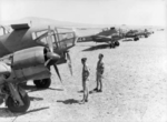 Captured French Potez 63.11 aircraft, Aleppo, Syria, 1941