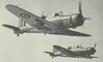 Two Roc aircraft in flight, date unknown, photo 1 of 2