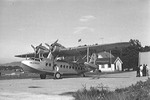 S-43 flying boat of Norwegian airline Det Norske Luftfartselskap at Gressholmen Airport near Oslo, Norway, 1936