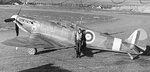 British Squadron Leader Donald Finlay of 41 Squadron RAF with his Spitfire fighter, circa 1941