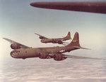 Olive-drab painted B-29 bombers, late 1943