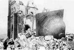The ruins of the Urakami Roman Catholic church, Nagasaki, Japan, 7 Jan 1946