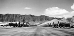 P-47 Thunderbolt aircraft of the 318th Fighter Group lined up for an inspection at Bellows Field, Oahu, US Territory of Hawaii, 15 May 1944. Photo 1 of 8.