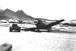 P-40 Warhawk aircraft damaged in a taxiing accident with another P-40 at Bellows Field, Oahu, US Territory of Hawaii, 8 Dec 1941, photo 2 of 3