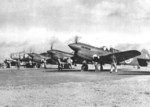 Captured P-40 fighters with Japanese markings, date unknown