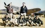 American Volunteer Group pilots with a P-40 fighter, China, 1940s