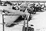 Wrecked Wildcats of VMF-211 collected by Japanese, Wake, circa late Dec 1941