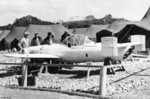 Captured MXY7 Ohka Model 11 aircraft I-18, Yontan Airfield, Okinawa, Japan, Apr 1945, photo 2 of 7