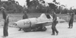 American troops moving captured MXY7 Ohka aircraft I-10, Kadena airfield, Okinawa, Japan, Apr 1945