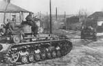 German Das Reich Division tank entering the outskirts of Kharkov, Ukraine, Feb-Mar 1943