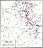 Map depicting the western front of the European War, 20 Dec 1944