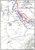 Map depicting the US 3rd Army