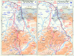 Map depicting the Allied advance to the Rhine River in West-Central Germany and Belgium, 8 Feb-10 Mar 1945