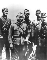 Japanese officers at the Aleutian Islands, circa 1942-1943