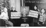 Austrian family showing support for the German annexation, Mar 1938