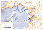 Map depicting Operation Avalanche against mainland Italy, 9 Sep 1943