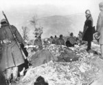 Greek troops digging trenches in the Eleas-Kalama sector of northern Greece, Mar 1939