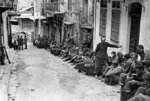 German prisoners under British guard, Crete, Greece, 6 Jun 1941