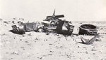 Remains of a Matilda tank of C Squadron, UK 4th Royal Tank Regiment, Libya or Egypt, 17 Jun 1941