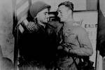 American 2nd Lt. William Robertson and Russian Lt. Alexander Sylvashko met near Torgau, Germany, 25 Apr 1945