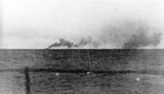 Smoke from Prince of Wales and Hood, seen from Prinz Eugen, 24 May 1941, photo 1 of 2