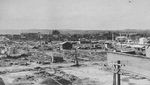 Aomori, Japan after American aerial bombing, 1945