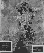 USAAF study of damage to Nagoya, Japan done by aerial bombing on 14 and 17 May 1945