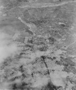 Aerial view of Tokyo, Japan, early 1945