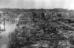 Tokyo, Japan in ruins after aerial bombing, circa 10 Mar 1945, photo 1 of 4