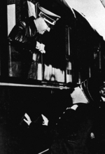 Hitler and Mussolini at Brennero in the Brenner Pass, Italy, 18 Mar 1938, photo 2 of 2