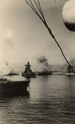 French battleship Strasbourg under attack at Mers-el-Kébir, French Algeria, 3 Jul 1940