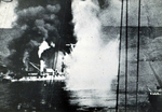French battleship Bretagne under attack during the Battle of Mers-el-Kébir, French Algeria, 3 Jul 1940